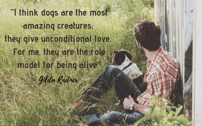 """I think dogs are the most amazing creatures; they give unconditional love. For me, they are the role model for being alive.""- 30 Inspiring Dog Quotes That Will Surely Melt Your Heart"