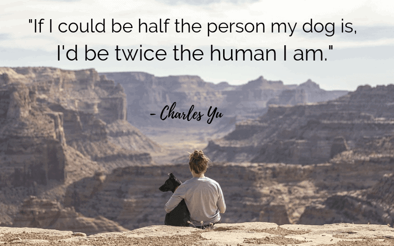"""""""If I could be half the person my dog is, I'd be twice the human I am.""""- 30 Inspiring Dog Quotes That Will Surely Melt Your Heart"""